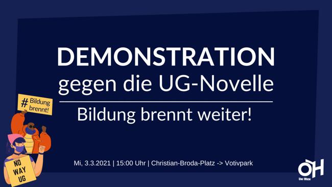 Bildung Brennt weiter! 3.3., 15:00, Christian-Broda-Platz